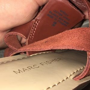 Marc Fisher Shoes - ✨NWT and Box! ✨Dark red suede Marc Fisher Sandal